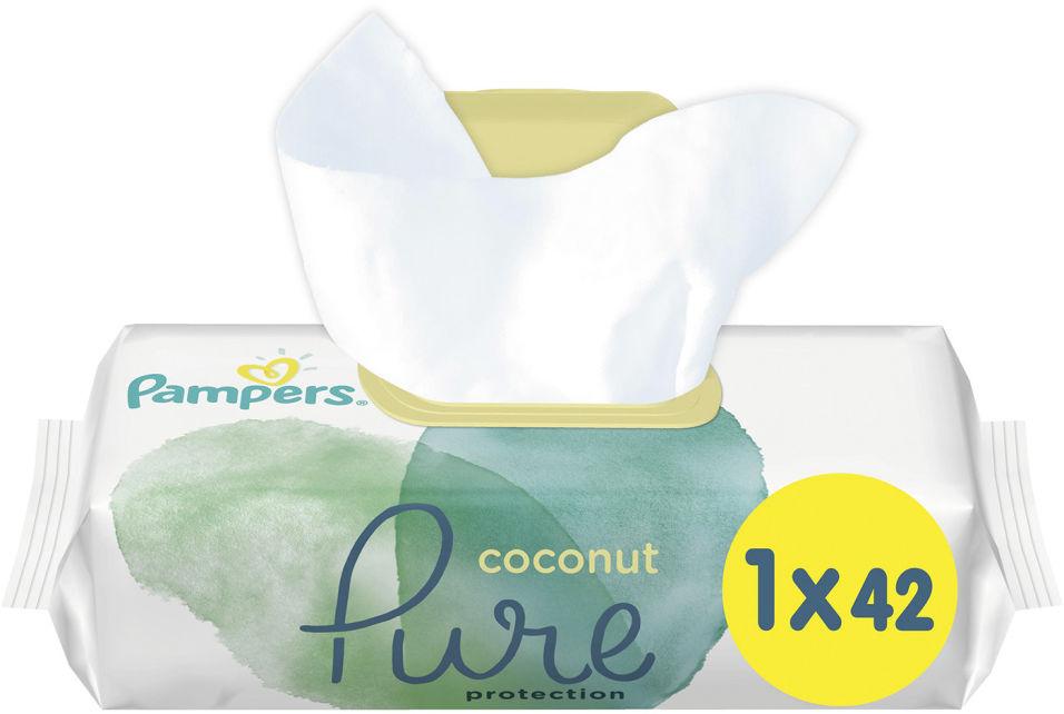Салфетки влажные Pampers Pure Coconut детские 42шт (упаковка 3 шт.)