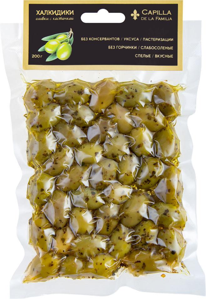 Оливки Capilla de la Familia Халкидики с косточкой 200г