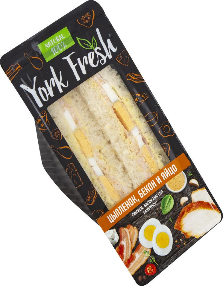 Сэндвич York Fresh с цыпленком беконом и яйцом 150г