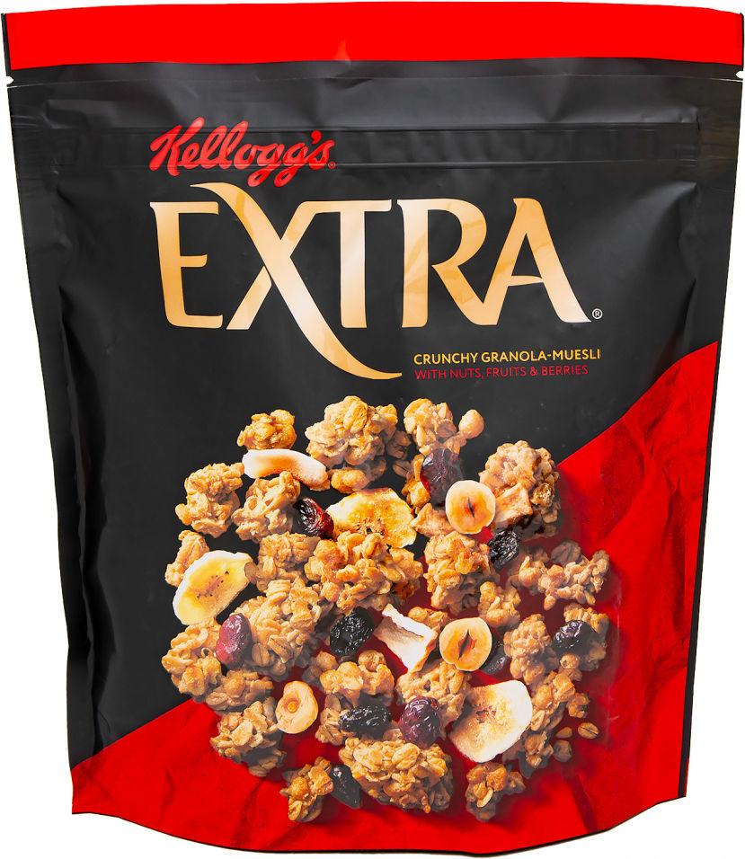Мюсли Kelloggs Extra хрустящая гранола с орехами фруктами и ягодами 300г