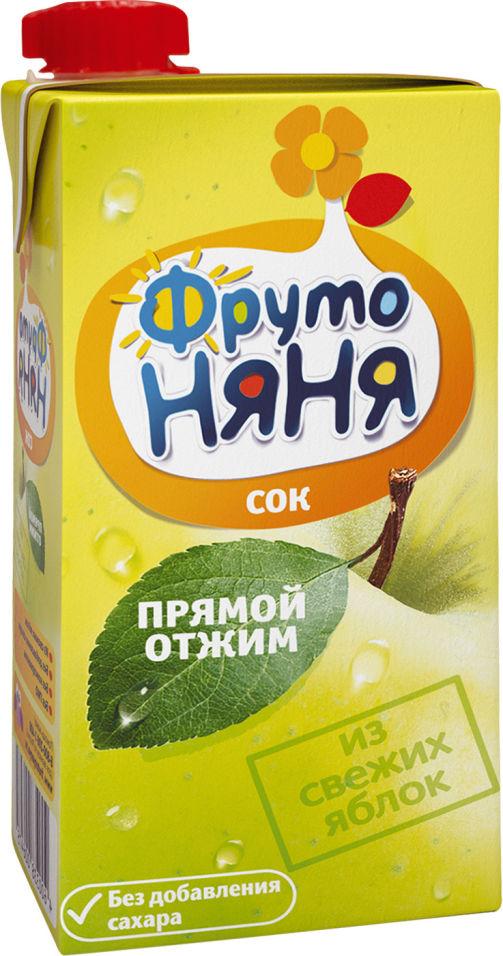 Сок ФрутоНяня Яблоко прямой отжим 500мл