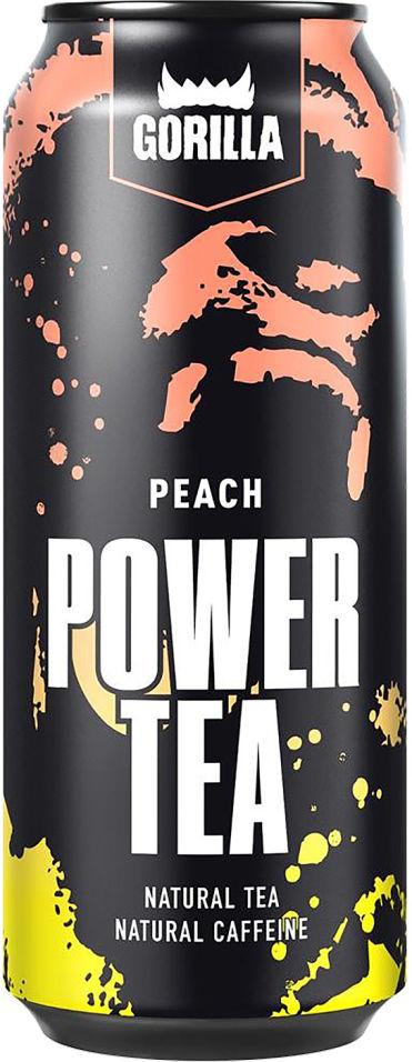 Напиток Gorilla Power Tea персик 450мл