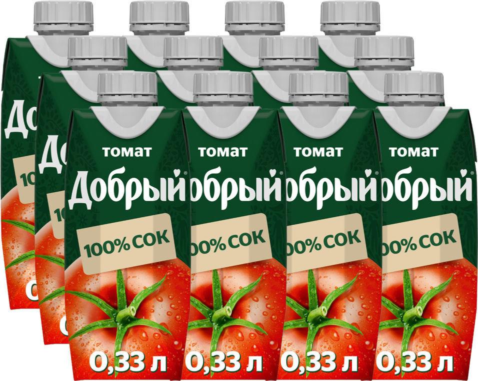 Сок Добрый Томатный 330мл (упаковка 12 шт.)