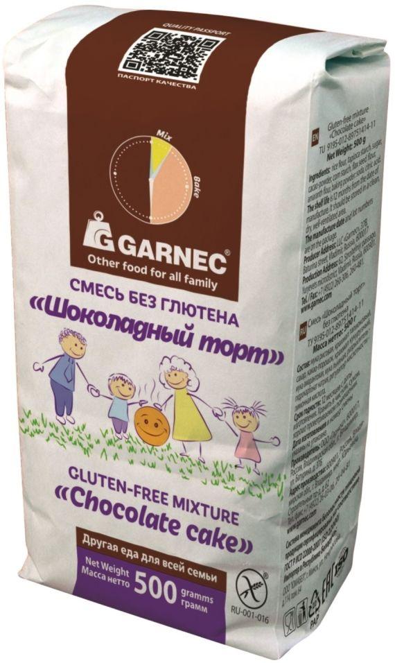 Смесь для выпечки Garnec Шоколадный торт без глютена 500г