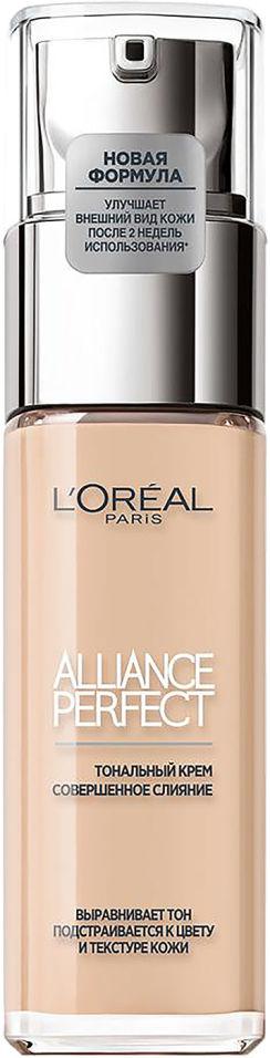 Тональный крем Loreal Paris Alliance Perfect Совершенное слияние Выравнивающий и увлажняющий Оттенок 1N Слоновая кость 3