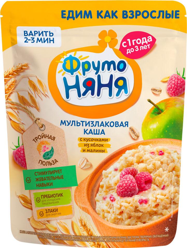 Каша ФрутоНяня Мультизлаковая Яблоко и малина с 1 года 200г (упаковка 2 шт.)