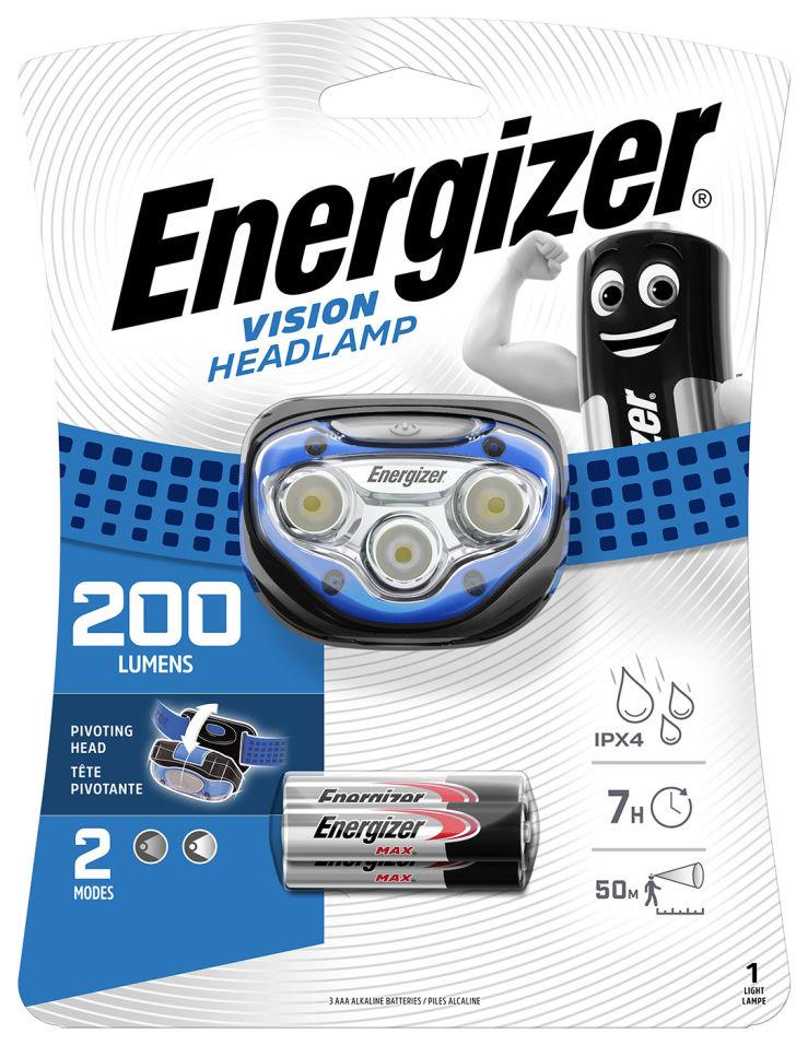Фонарь Energizer налобный 200 lumens + 3AA