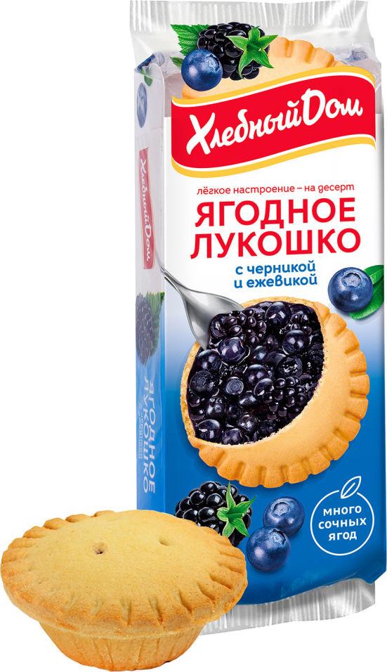 Кекс Хлебный Дом Ягодное Лукошко с черникой и ежевикой 2шт*70г
