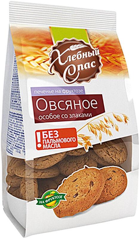 Печенье Хлебный Спас Овсяное Полезный Завтрак со злаками на фруктозе 180г