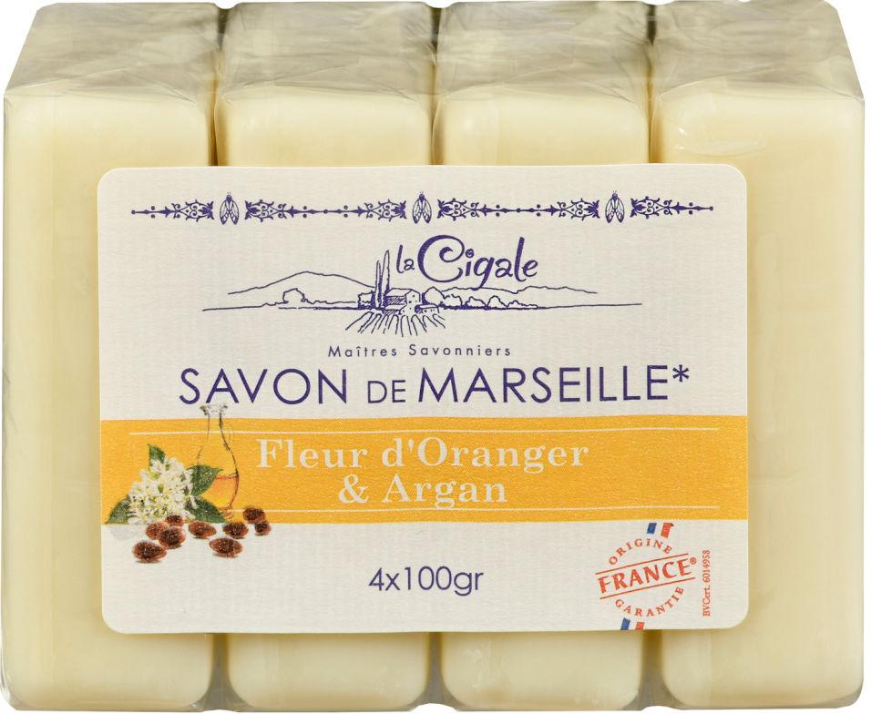 Мыло Savon de Marseille Апельсин и Аргана 4шт*100г