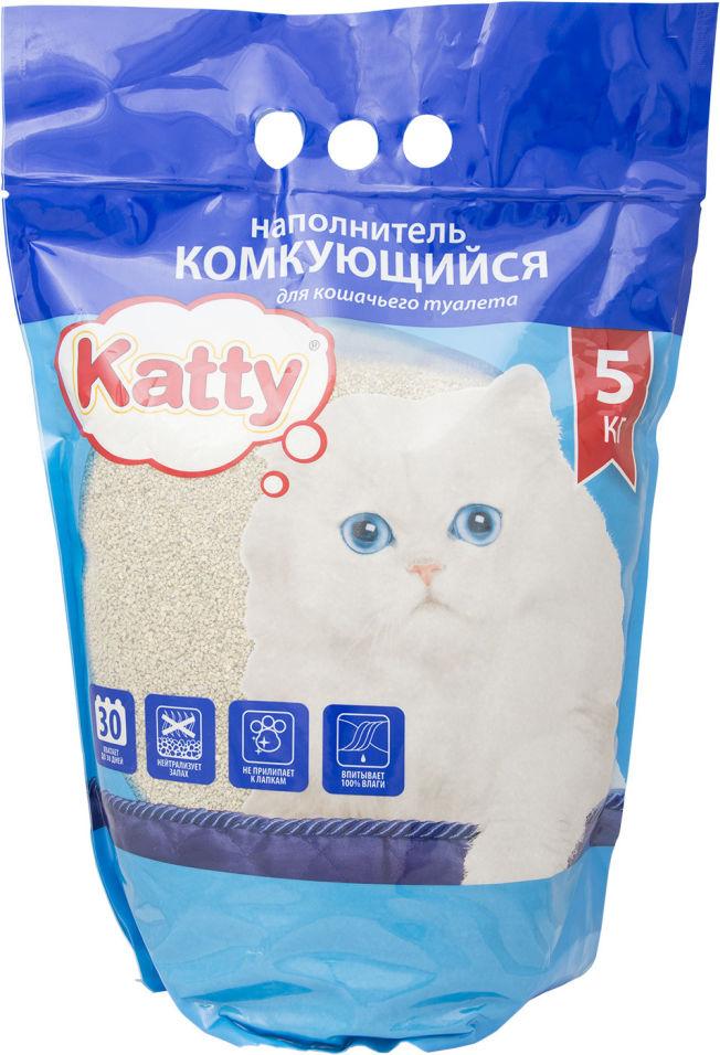 Наполнитель для кошачьего туалета Katty комкующийся 5кг