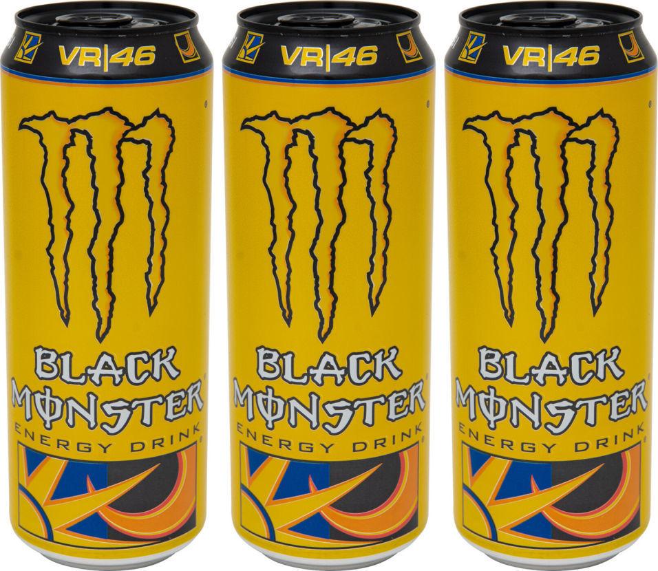 Напиток энергетический Black Monster The Doctor 449мл (упаковка 3 шт.)