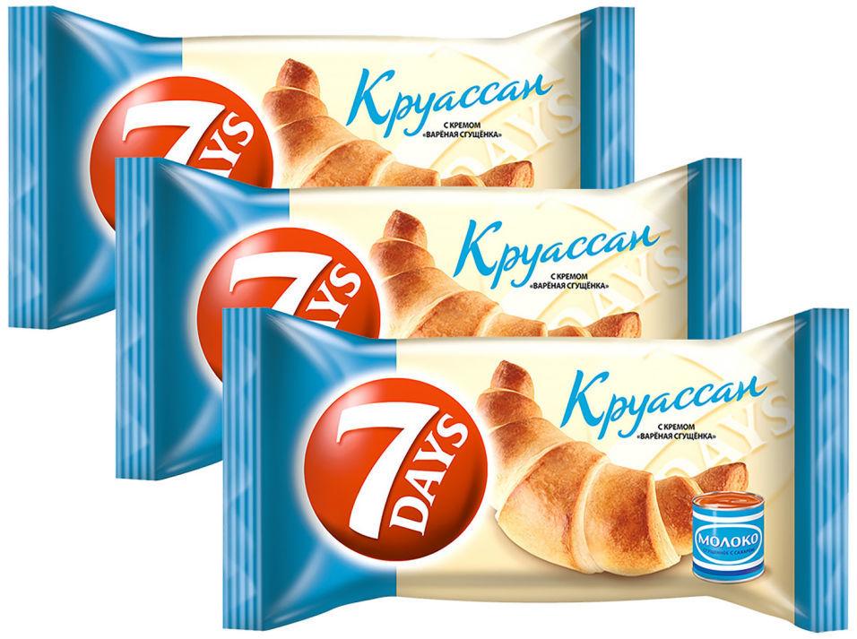 Круассан 7 Days с кремом Вареная сгущенка 65г (упаковка 3 шт.)