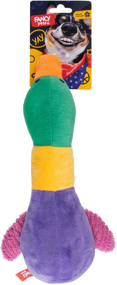 Игрушка для животных Fancy Pets Утка с шуршалкой и хрустящей трубкой 33см