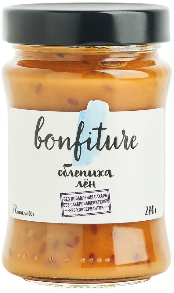 Фруктовый десерт Bonfiture облепиха-лён 280г