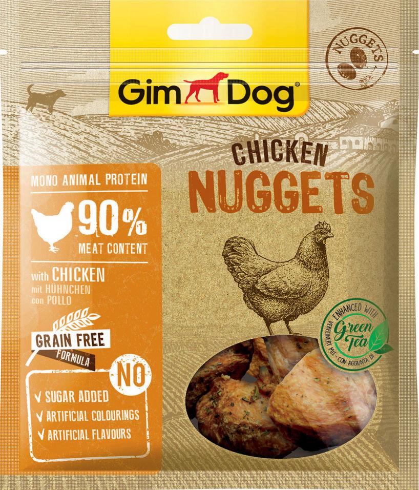 Лакомство для собак GimDog наггетсы куриные для собак 55г