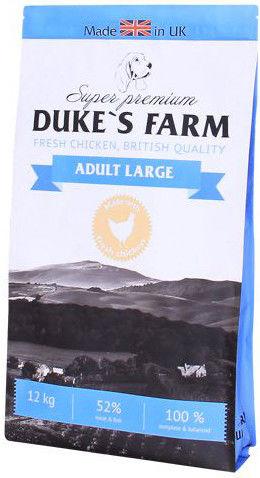 Сухой корм для собак Dukes Farm Курица для крупных пород 12кг