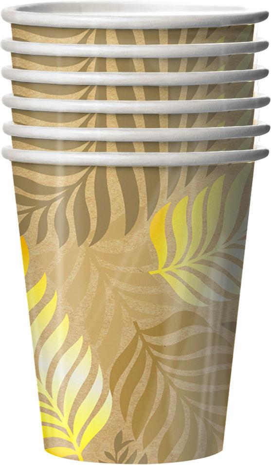 Стаканы бумажные Gratias Golden foliage 250мл 6шт