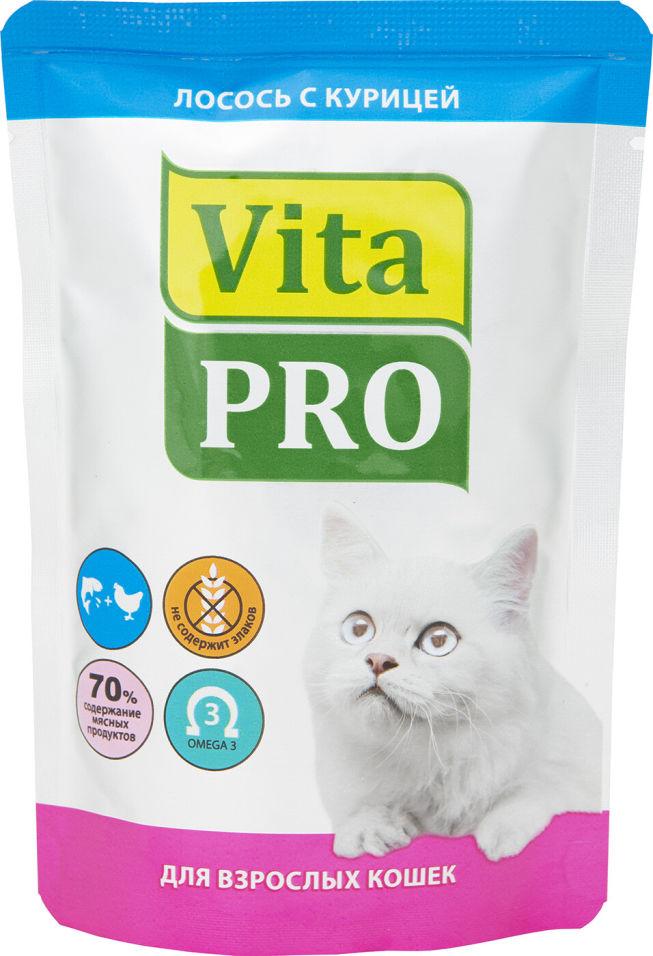 Корм для кошек Vita pro Лосось с курицей 100г