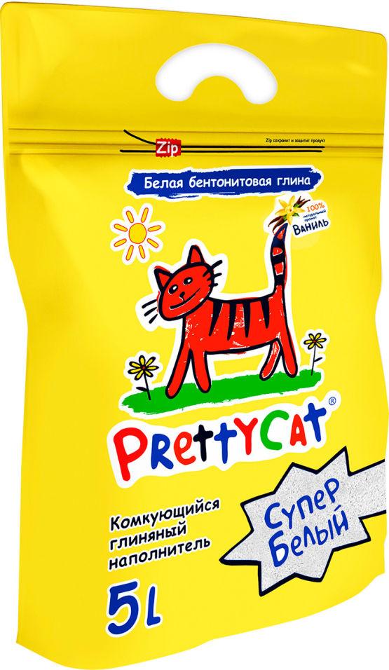 Наполнитель для кошачьего туалета PrettyCat Супер белый комкующийся Ваниль 5л