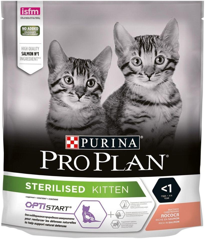 Сухой корм для стерилизованных котят Pro Plan с лососем 400г