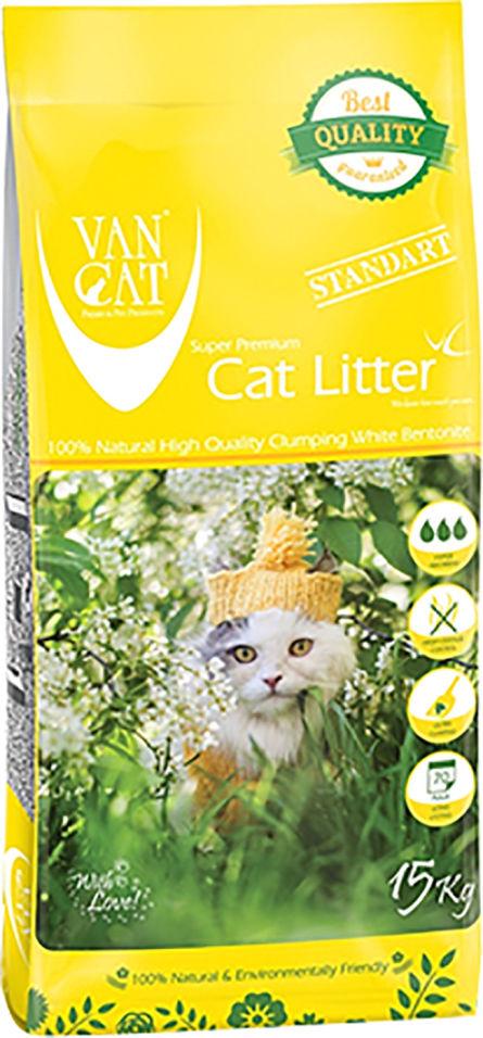 Наполнитель для кошачьего туалета Van Cat Standart комкующийся 15кг