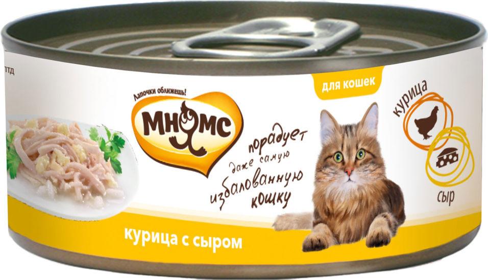 Корм для кошек Мнямс Курица с сыром в нежном желе 70г