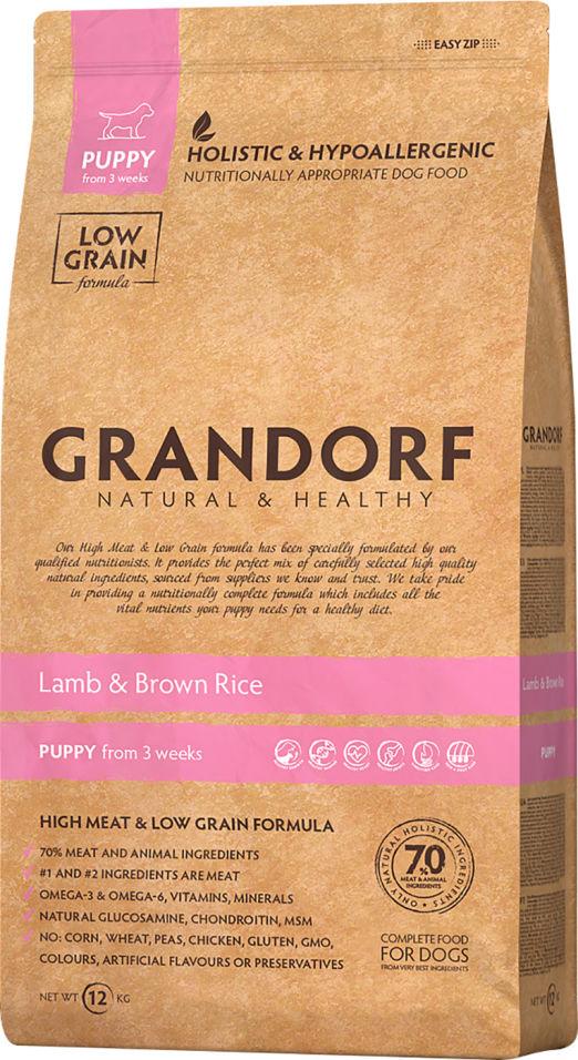 Сухой корм для собак Grandorf Puppy Ягненок с рисом 12кг
