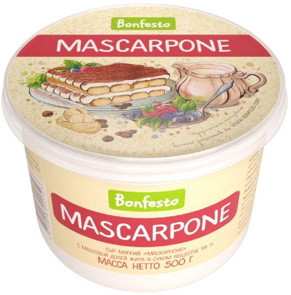 Отзывы о Сыре Bonfesto Маскарпоне 78% 500г