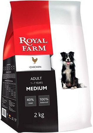 Сухой корм для собак Royal Farm Курица для средних пород 2кг
