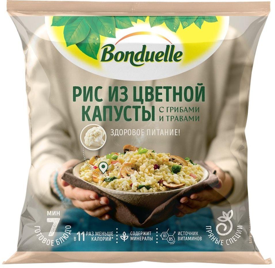 Смесь овощная Bonduelle Рис из цветной капусты с грибами и травами быстрозамороженная 400г