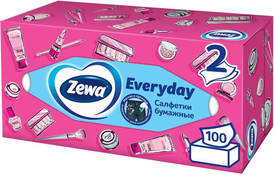 Отзывы о Салфетки бумажные Zewa Everyday косметические 2 слоя 100шт