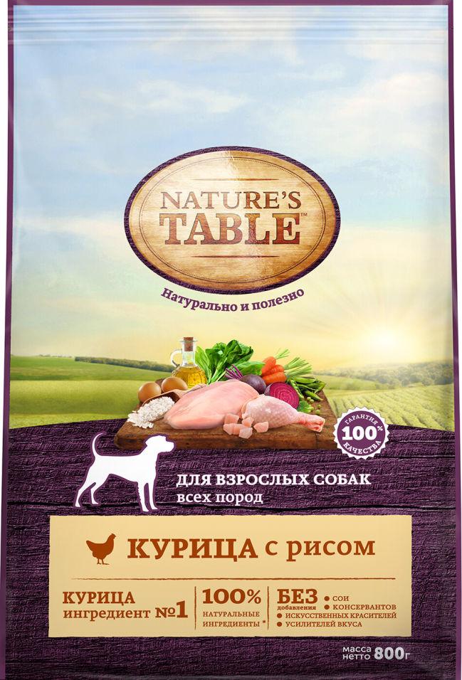 Отзывы о Сухом корме для собак Natures Table Курица с рисом 800г