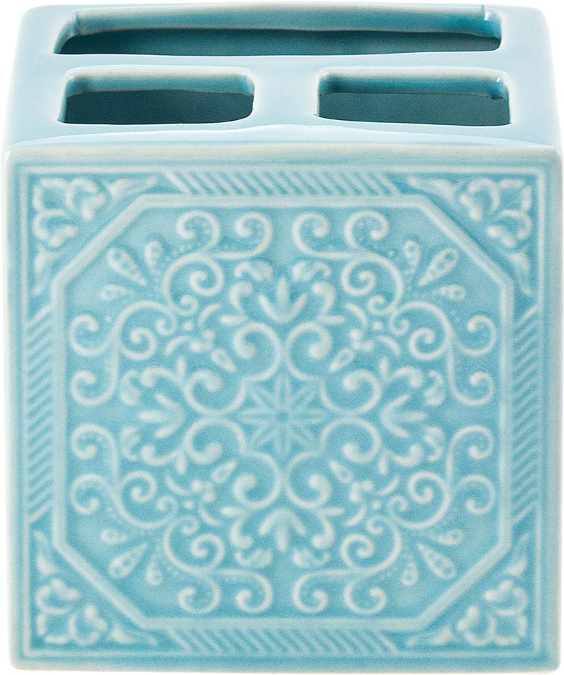Стакан для зубных щеток Swensa Tiffany голубой