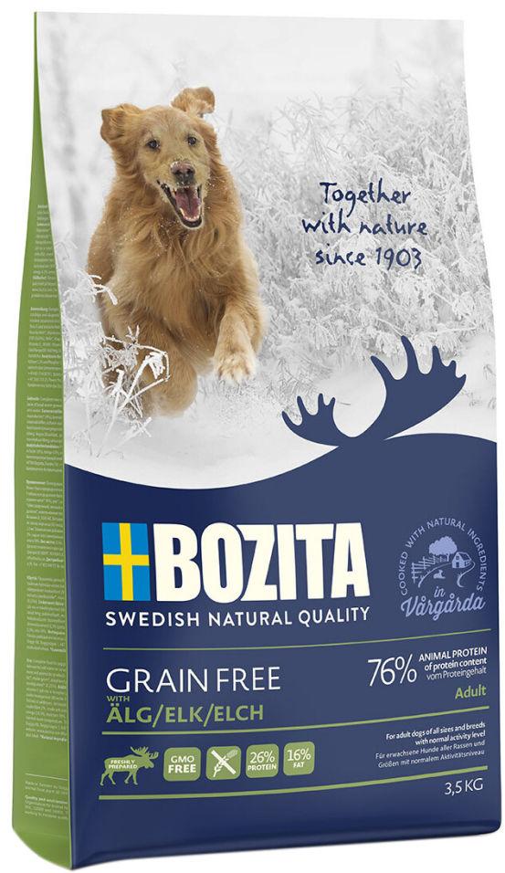 Сухой корм для собак Bozita Grain Free Elk  с мясом лося 3.5кг