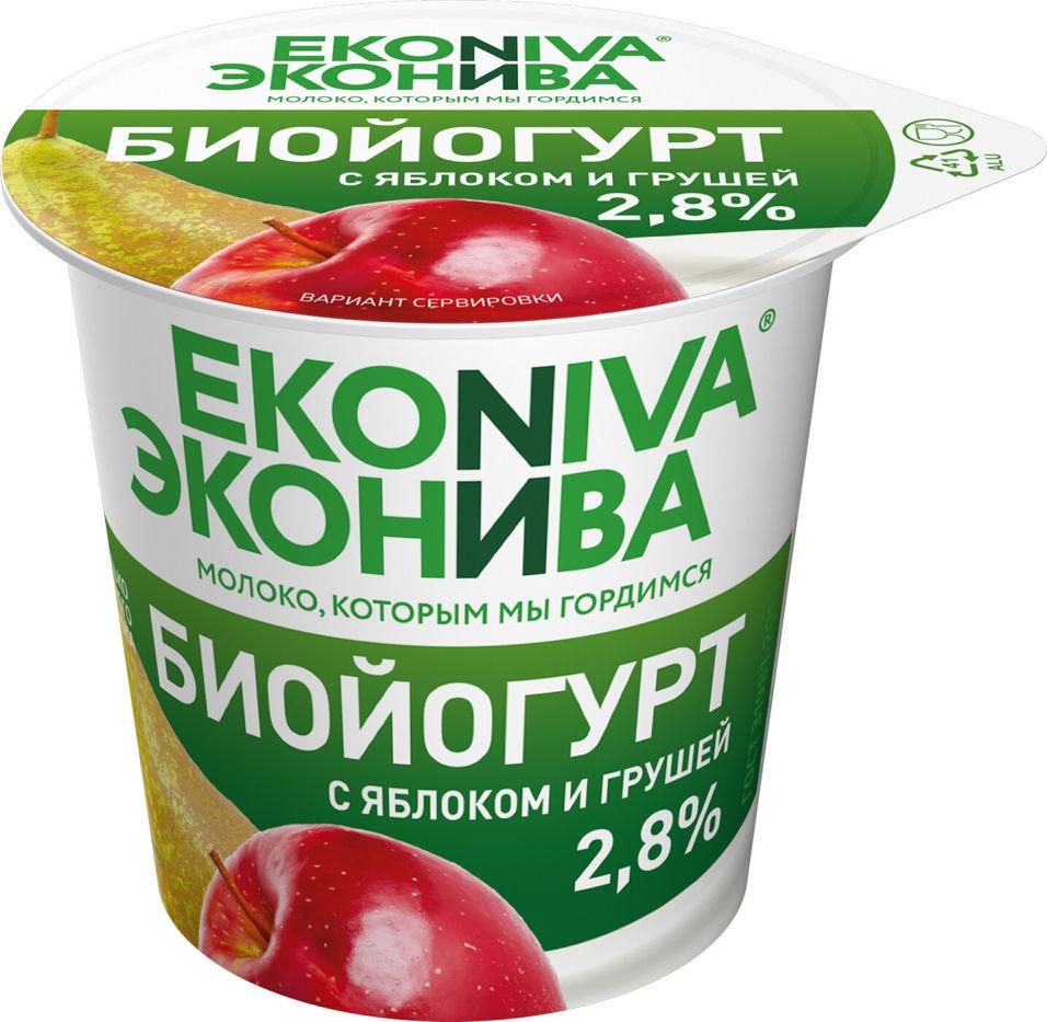 Отзывы о Биойогурте ЭкоНива с яблоком и грушей 2.8% 125г