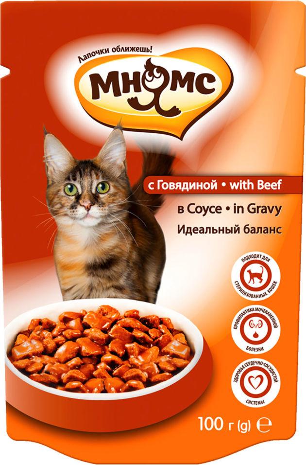 Корм для кошек Мнямс Идеальный баланс с говядиной в соусе 100г