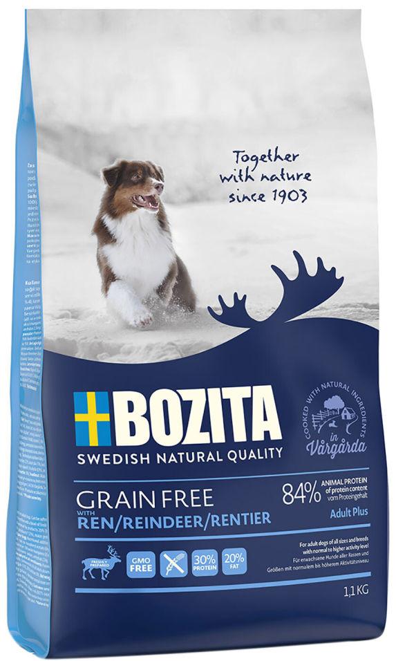 Сухой корм для собак Bozita Grain Free Reindeer с мясом оленя 1.1кг