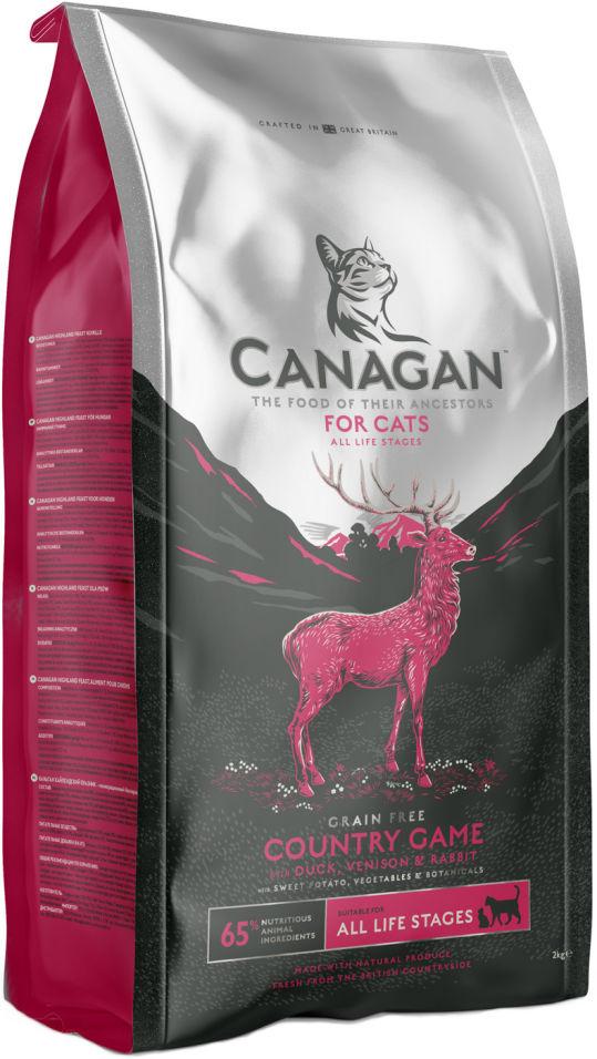 Сухой корм для кошек Canagan Country Game Утка Оленина Кролик 375г