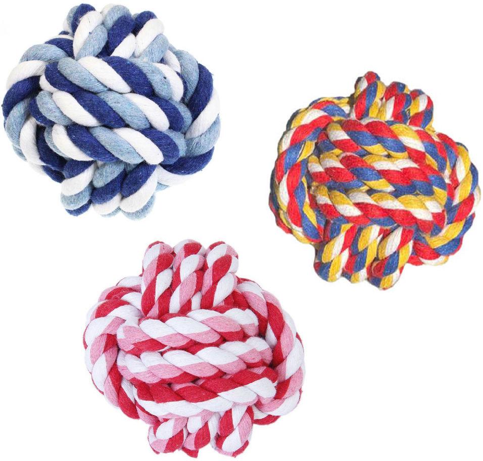 Игрушка для собаки Lilli Pet Веревочный мяч 8см