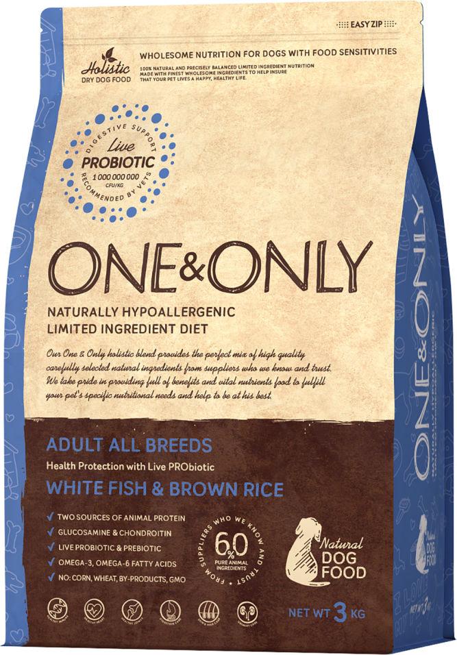 Сухой корм для собак One&Only Adult аll рыба с рисом 3кг