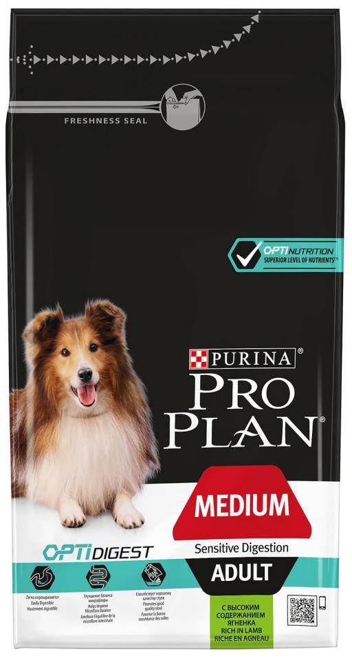 Сухой корм для собак Pro Plan Optidigest Medium Adult с ягненком 1.5кг