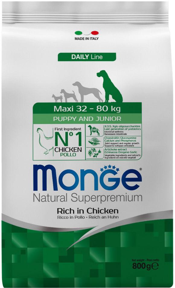 Отзывы о Корме для щенков Monge Dog Maxi для крупных пород 800г