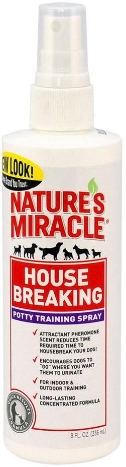 Отзывы о Спрее для щенков и собак 8 in 1 Natures Miracle для приучение к туалету House-Breaking 237мл
