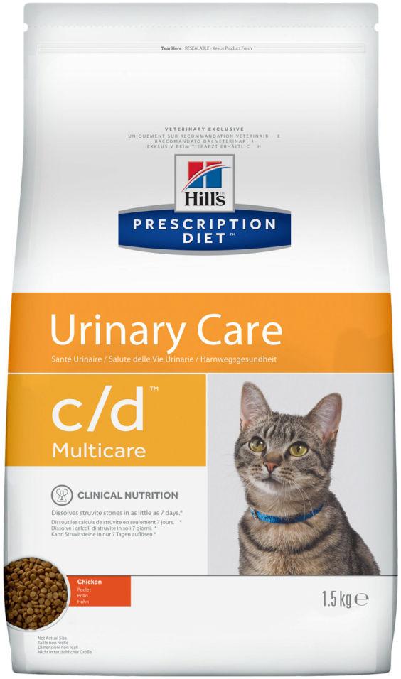 Сухой корм для кошек Hills Prescription Diet при лечении и профилактики МКБ с курицей 1.5кг