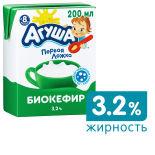 Бифидокефир детский Агуша 3.2% 204мл
