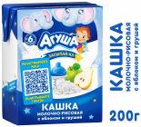 Каша Агуша Засыпай-ка Молочно-рисовая с яблоком и грушей 2.7% 200мл