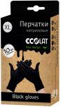 Перчатки EcoLat нитриловые черные размер XL 10шт