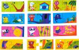 Игра настольная детская Dream Makers Кто где живет 12 пазлов