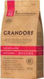 Сухой корм для собак Grandorf Adult all Ягненок с рисом 1кг